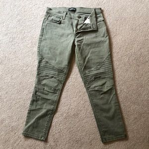 Women's Olive Utility Ankle Jean